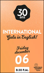 International Gala In English! @ Montreux